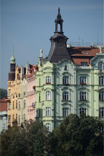 Apartments near Vltava River, Prague.