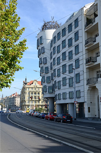 "Nationale-Nederlanden building (also know as ""The Dancing House""), 1996, Prague. Vlado Milunić, Frank Gehry, architects."