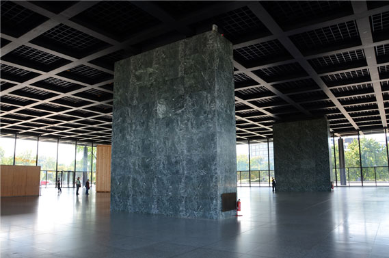 Neue Nationalgalerie, 1968, Berlin. Mies van der Rohe, architect.