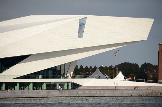EYE Film Institute Netherlands, 2012, North Amsterdam. Delugan Meissl Associated Architects.