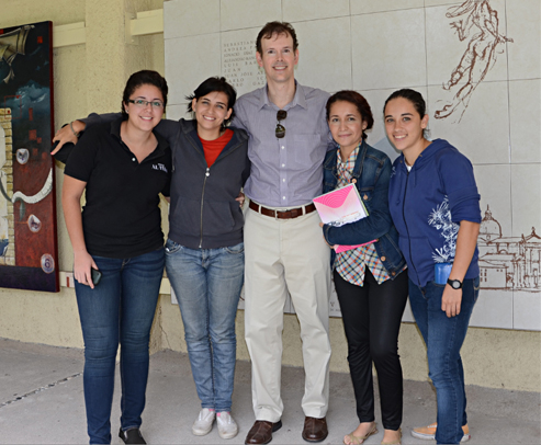 Stephen Schmidt with university of Colima graphic design students